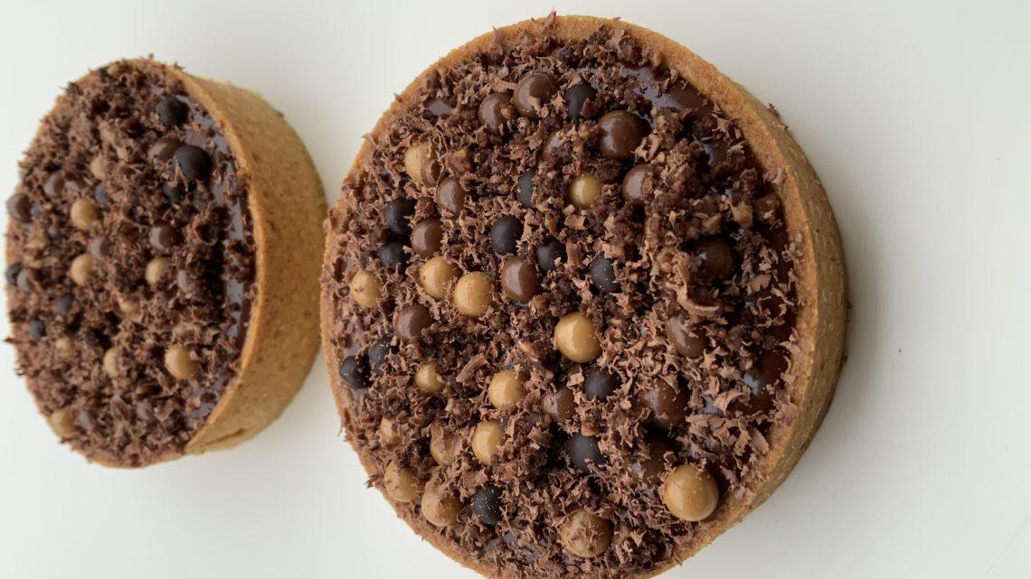 Tartelettes chocolat caramel perles croustillantes