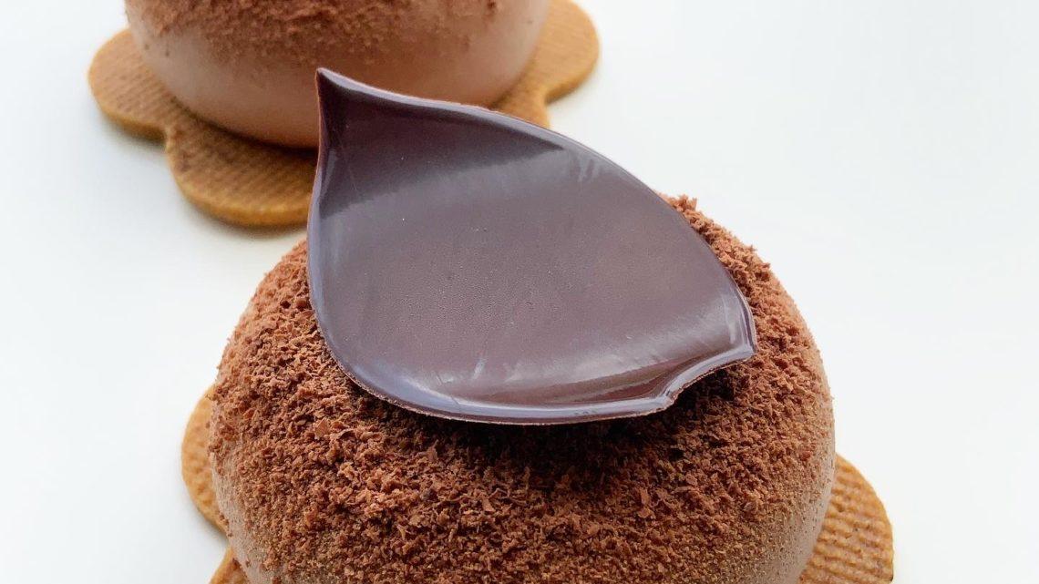 Fleur chocolat noir ~praliné